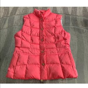 Lilly Pulitzer Pink Puffer Vest sz S